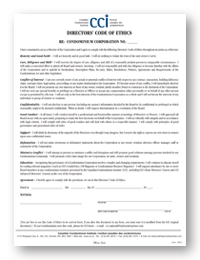 director code of ethics form